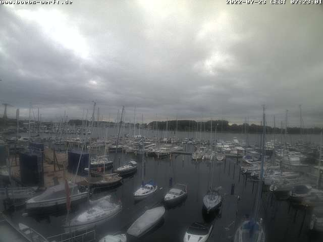 Webcam-Bild von Boebs-Werft in Travemünde